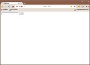 Vista de la web